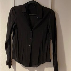 Theory blouse black size small